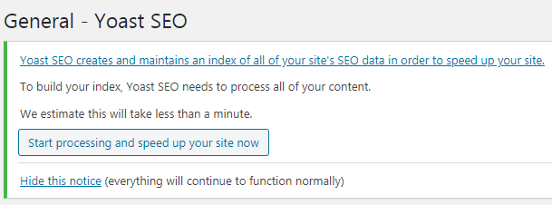 index change in yoast seo plugin