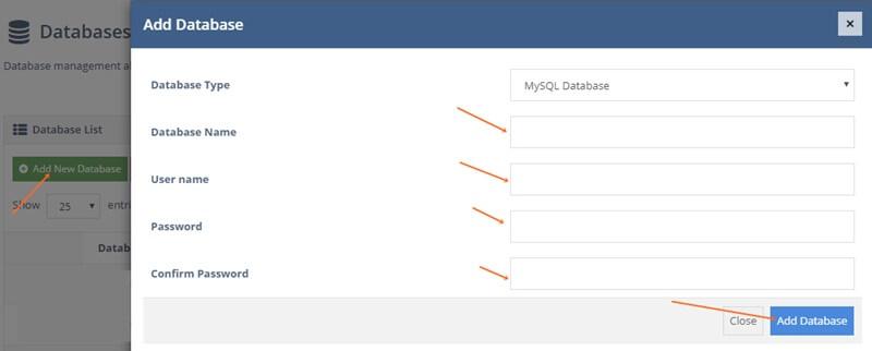 create a database for wordpress hosting