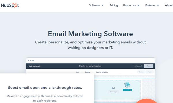 hubsport email marketing software