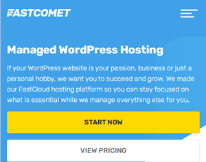 fastcomet wordpress hosting