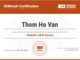 Mobile SEO certificate