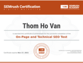 on-page seo certificate